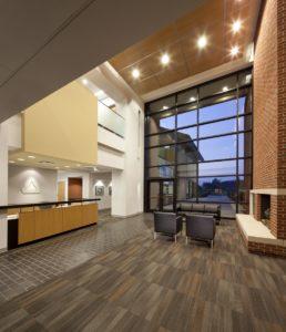 Triangle Brick Interior Lobby