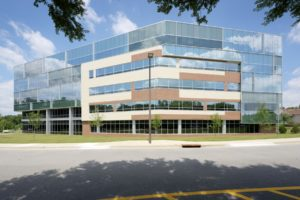 BlueCross BlueShield of NC Headquarters Exterior Close