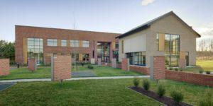 Triangle Brick Headquarters Exterior Side Walk