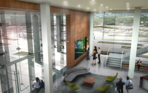 Confidential Client HQ Lobby Overlook