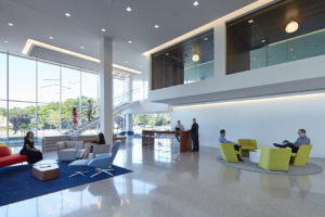 Local Government Federal Credit Union Interior Lobby Commercial Office