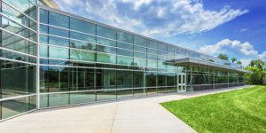 Asheville Middle School Back Exterior Glass K-12 education