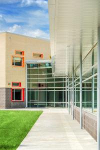 Asheville Middle School Back Exterior K-12 education