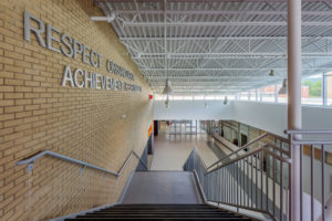 Asheville Middle School Main Stair K-12 education