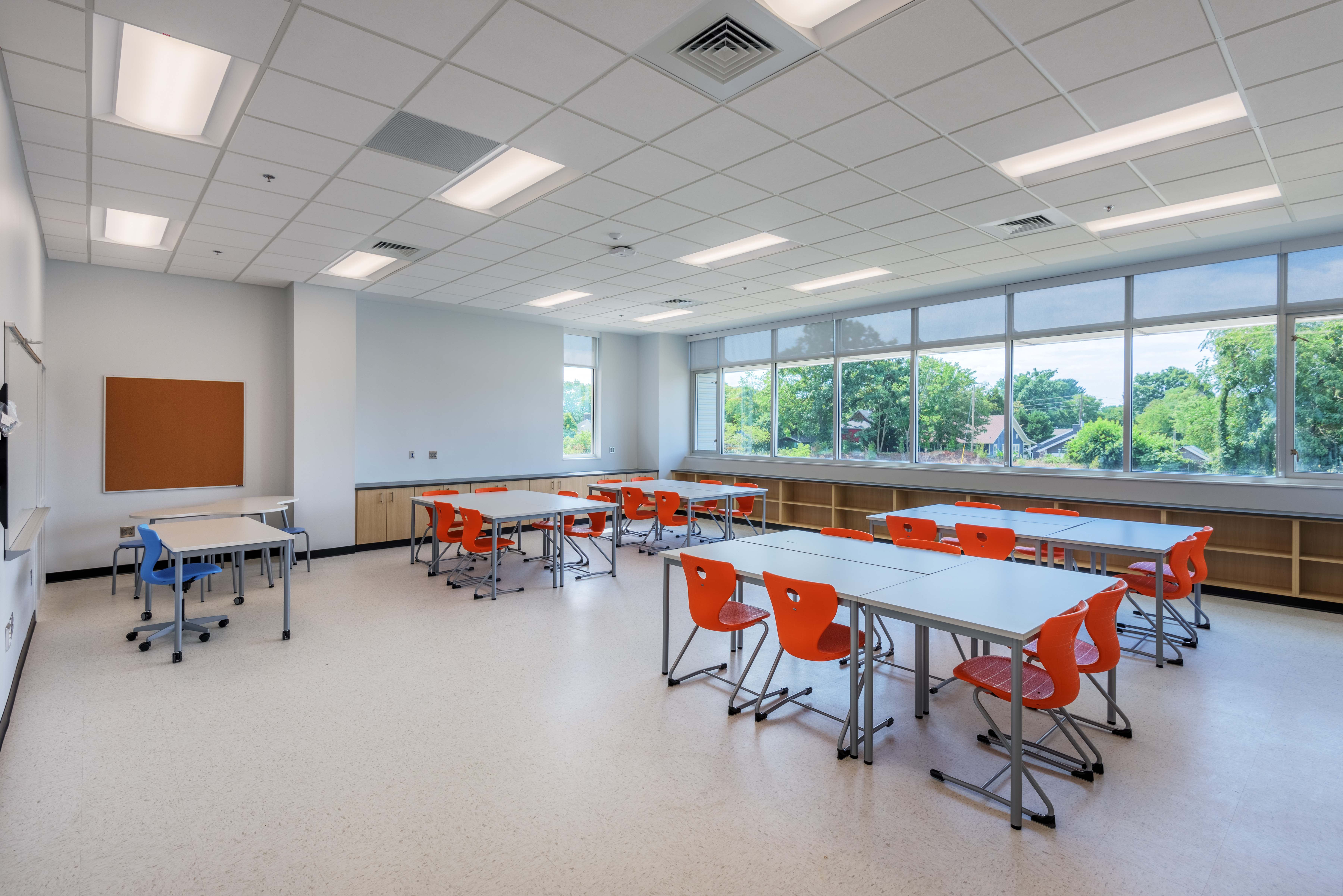 Classroom Design Project ~ Asheville middle school barnhill contracting company