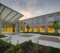 ern Guilford HS Exterior Sunset