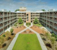 ECU Scott Residence Hall Exterior Quad