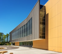 Health Sciences Classroom Lab Construction Wake Tech Building H Exterior Side Curve
