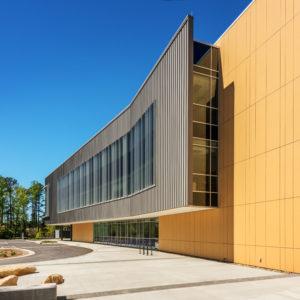Health Sciences Classroom Lab Construction Wake Tech Building H Exterior Side Curve