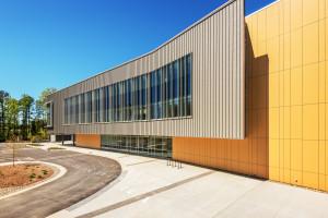 Health Sciences Classroom Lab Construction Wake Tech Building H Exterior Curve