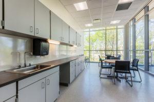 Health Sciences Classroom Lab Construction Wake Tech Building H Breakroom
