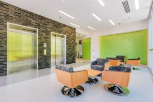 Health Sciences Classroom Lab Construction Wake Tech Building H Lobby