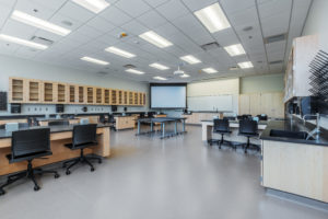 Health Sciene Classroom Lab Construction Wake Tech Building H Classroom
