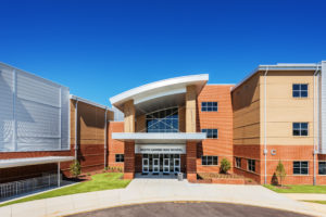 South Garner HS Front Entrance Close