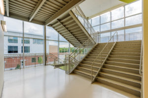 South Garner High School Interior Grand Stair K-12 education