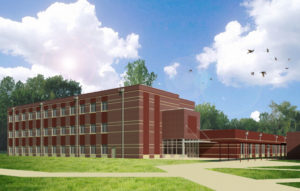 South Mecklenburg High School Exterior Rendering