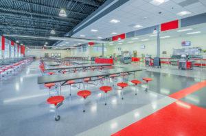 South Mecklenburg High School Cafeteria Far