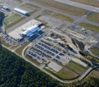 Albert J. Ellis Airport Terminal Aerial 2