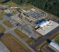 Albert J. Ellis Airport Terminal Aerial 3
