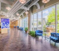 UNC Asheville Highsmith Union Interior Windows
