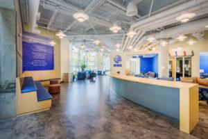 UNC Asheville Highsmith Union Interior Reception Branding Wall