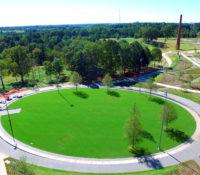 NCMA Park Aerial Close