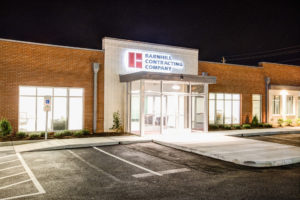 Barnhill Raleigh Office Exterior Night