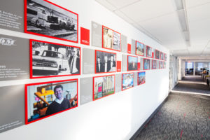 Barnhill Raleigh Office History Wall