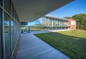 Innovative High School Exterior Back Walk