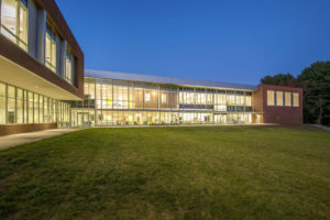 Innovative High School Back Exterior Twilight