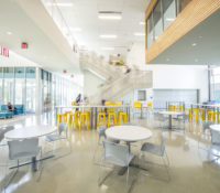 Innovative High School Lobby Entrance