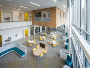 Innovative High School Lobby View Inside