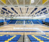 Laney High School Gym Interior Floor