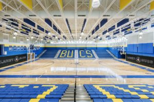 Laney High School Gym Interior Floor