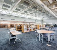 Laney High School Media Center Interior Recessed