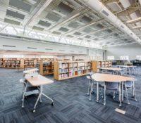 Laney High School Media Center Interior Recessed