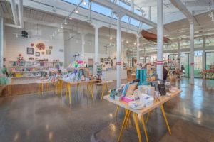 Optimist Hall Duke Energy Charlotte NC Interior Retail Side
