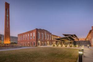 Optimist Hall Duke Energy Charlotte NC Exterior Twilight Back