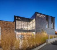 Optimist Hall Duke Energy Charlotte NC Exterior Twilight