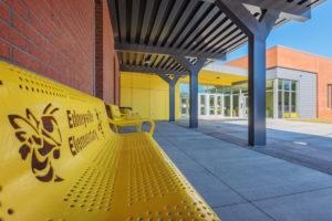 Edneyville Elementary School Exterior Bench