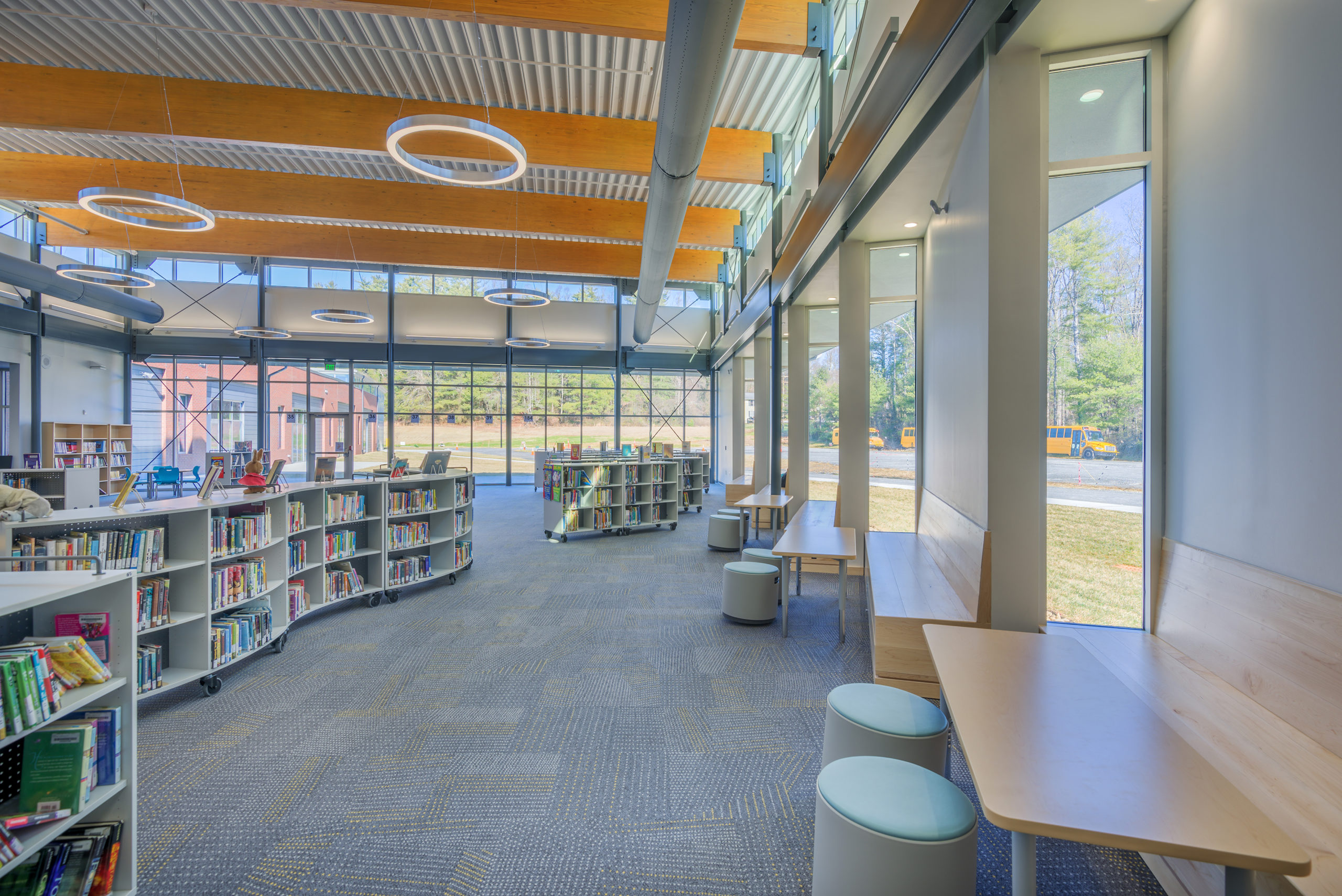 Edneyville Elementary School Media Center Barnhill Contracting Company