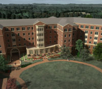 UNC Charlotte Phase XVI Courtyard from East Rendering