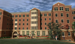 UNC Charlotte Phase XVI Courtyard from NorthEast Rendering
