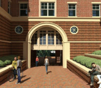 UNC Charlotte Phase XVI Courtyard from Rendering