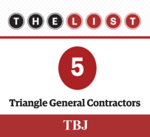 Triangle Business Journal List of Top Contractors