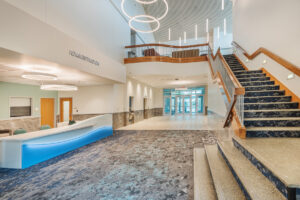 Reception area of New Bern Riverfront Convention Center in Craven County, NC