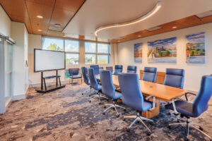 Modern conference room at New Bern Riverfront Convention Center in Craven County, NC