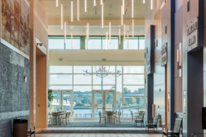 Featured lighting at New Bern Riverfront Convention Center in Craven County, NC