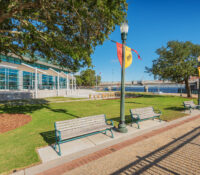 Exterior of New Bern Riverfront Convention Center in Historic Downtown New Bern, NC